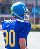 American football player in helmet Stock Photography