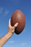American Football Player Holding the Ball Royalty Free Stock Photo