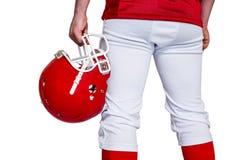 American football player holding a helmet Royalty Free Stock Photos
