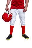 American football player holding a helmet Stock Images