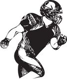 American football player illustration. With abstract background Royalty Free Stock Images