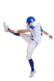 American football player kicking Royalty Free Stock Images