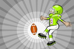 American football player kicking the ball Stock Photography