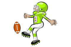American football player kicking the ball Royalty Free Stock Photography
