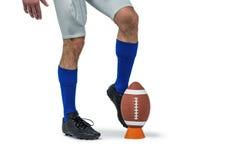 American football player kicking ball Royalty Free Stock Photo