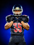 American football player man isolated stock images