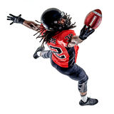 American football player man isolated Royalty Free Stock Photography