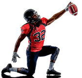 American football player man isolated Royalty Free Stock Image