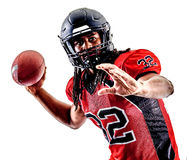 American football player man isolated Royalty Free Stock Images