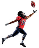 American football player man isolated Royalty Free Stock Photo