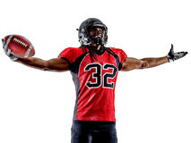 American football player man isolated Stock Image