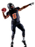 American football player man isolated Royalty Free Stock Photos
