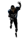 American football player man running  silhouette Royalty Free Stock Photography