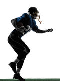 American football player man running  silhouette Stock Images