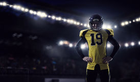 American football player . Mixed media Royalty Free Stock Images