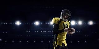 American football player . Mixed media Royalty Free Stock Photos