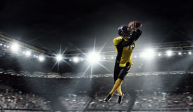 American football player . Mixed media Stock Photo