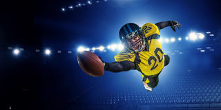 American football player . Mixed media Stock Images