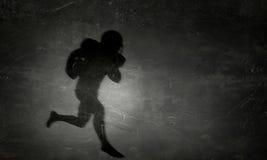 American football player. Mixed media Stock Photo