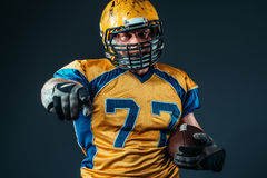 American football player pointing his finger Stock Image