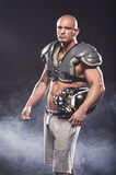 American football player posing Royalty Free Stock Image