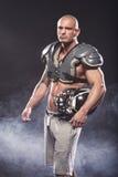 American football player posing Royalty Free Stock Image