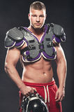 American football player posing Royalty Free Stock Images