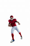 American football player protecting football Royalty Free Stock Photography