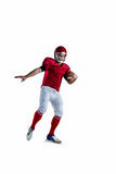 American football player protecting football Stock Photography