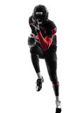 American football player runner running  silhouette Royalty Free Stock Photography