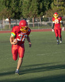 American Football Player Running with the Ball Stock Image