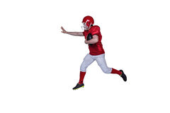 American football player running with the ball Stock Images