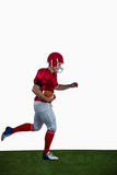 American football player running with football Royalty Free Stock Photo