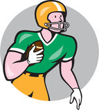 American Football Player Rusher Circle Retro Stock Photos