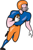 American Football Player Rusher Run Cartoon Royalty Free Stock Image