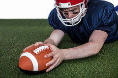 American football player scoring a touchdown Royalty Free Stock Photography