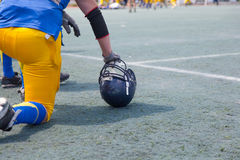 American football player Stock Photography