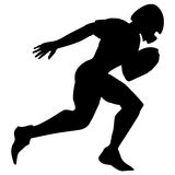 American football player. Silhouette of american football player Stock Image
