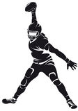 American football player, silhouette Stock Image