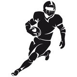 American football player, silhouette Stock Images