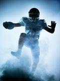 American football player silhouette Royalty Free Stock Photos