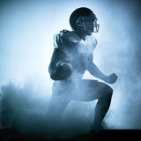 American football player silhouette Stock Photo