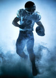 American football player silhouette Stock Images
