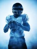 American football player silhouette Stock Photos