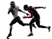 American football player  silhouette Royalty Free Stock Photography