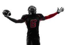 American football player  silhouette Stock Image
