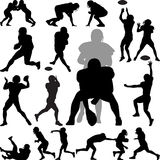 American football player. Silhouette vector Royalty Free Stock Images