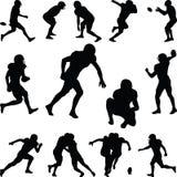 American football player. Silhouette vector Stock Photos