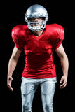 American football player standing in position Stock Photography