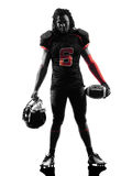 American football player standing silhouette Stock Photo